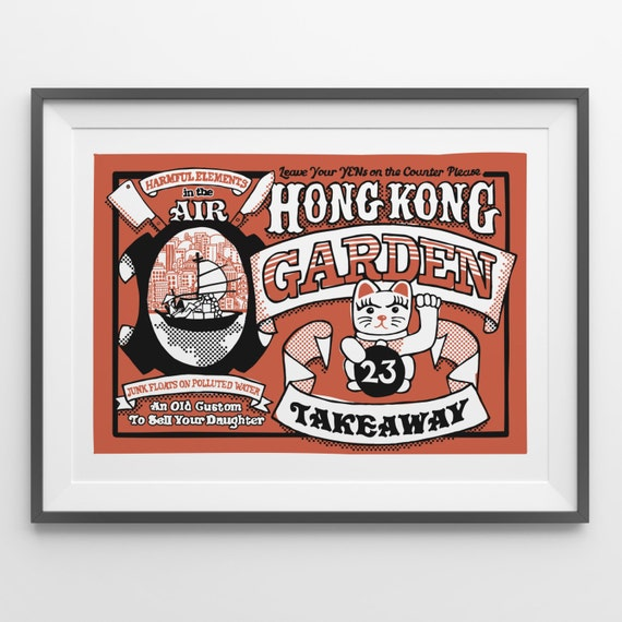 Hong Kong Garden - Hand Illustrated Print