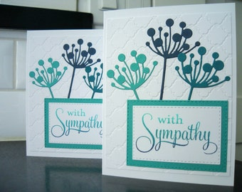 Handmade Floral Sympathy Card