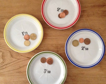 French vintage bistro plate