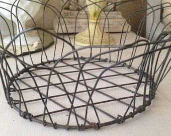 Vintage French Wire Bread Basket
