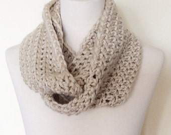 Ready to Ship, Classic Loop Scarf, Taupe, Unisex Adult