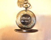 Harry Potter-inspired Pocket Watch - w.Always charm, After all this time? hidden under back cover/ you choose chain- mechanical/wind-up