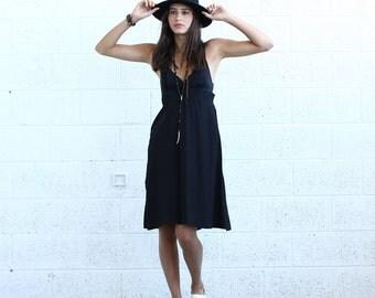 Sarafan Dress, Black.