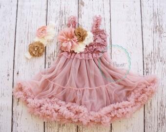 dusty rose flower girl dress- flower girl dresses- flower girl dress- girl dress- tutu dress- lace dress- pink dress- country dress- dresses