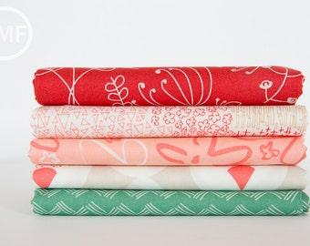 Happy Home Half Yard Bundle, 5 Pieces, Caroline Hulse, Art Gallery Fabrics, 100% Cotton Fabric, HAH