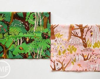 Tiger Lily Climbing Trees Fat Quarter Bundle, 2 Pieces, Heather Ross, Windham Fabrics, 100% Cotton Fabric, 40927