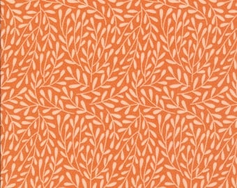Morning Song Dancing Vines in Coral, Elizabeth Olwen, 100% GOTS-Certified Organic Cotton, Cloud9 Fabrics, 130007