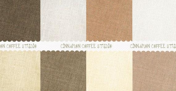 Linen Digital Paper Pack, Natural Linen Backgrounds, Retro Organic Linen Texture - set of 8