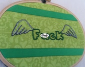 SUPER SALE Flying F*ck Embroidery