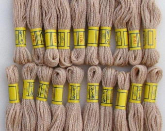 108 Yards DMC 3-Ply Needlepoint/Crewel Yarn 7614 Tan