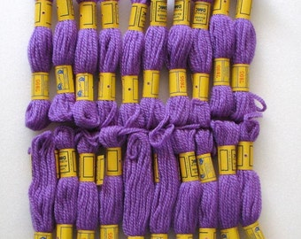 108 Yards DMC 3-Ply Needlepoint/Crewel Yarn 7895 Lavender