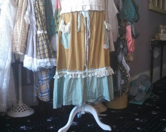 bronze prairie ladies aqua ruffled skirt from moonlight masqurade