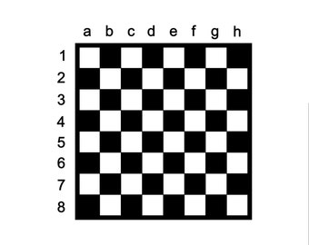Kids Chess / Chess board / Kid game / Kid chess / Checker board / game board / beginner board / numbers / letters / vinyl decal