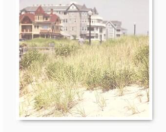 Beach photography, beach wall art, beach decor, beach grass print, Ocean Grove NJ, Jersey Shore, beach art print, beach house decor, shore