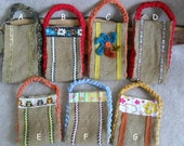 Small Burlap Gift Bags: Recycled burlap & T-rope from t-shirts  (choose 1)