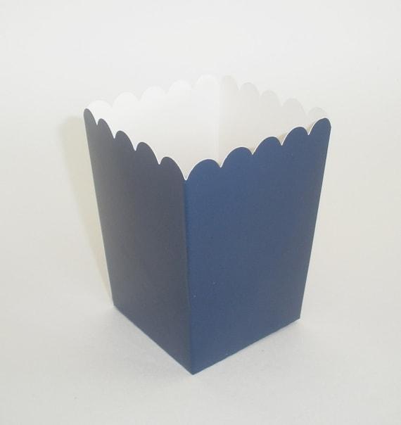 Blue Popcorn Favor Boxes : Navy blue popcorn boxes ct treat favor