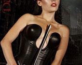 Deep plunge corset
