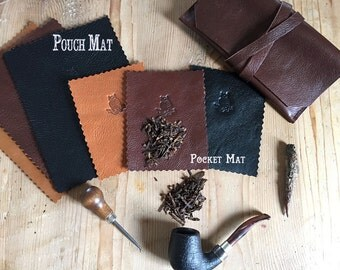 LeatherTobacco Mat * Comes in 3 different sizes * Sorringowl and Sons * Tobacco prep mat