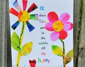 8 x 10 Whimsical Art Print My Happy