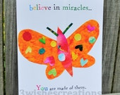 8 x 10 Whimsical Art Print Believe In Miracles