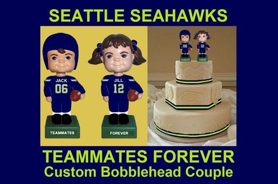 Seahawks Wedding Cake Toppers Funny Wedding Cake Topper