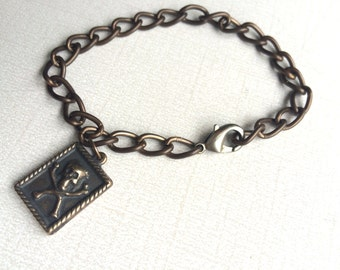 Men's Bracelet - Momento Mori - Chain Bracelet - Marian Consecration - Bracelet for Marian Consecration - Bracelet -  Made in USA