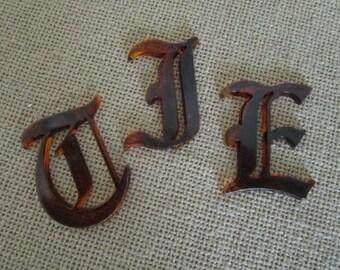 monogram letters upper case old roman tortoise acrylic letters lucite letters