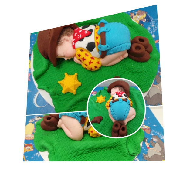 Plastic Baby Cowboy Cake Topper