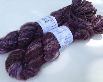 "Clearance - Handspun yarn, ""Lullabye League"" 4.8 oz, 144 yds"