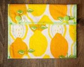 Reusable Small Snack Bag Snap Down - Juicy Lemons - Alexander Henry