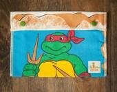 Reusable Large Snack Sandwich Bag Snap Down - Teenage Mutant Ninja Turtles - Vintage