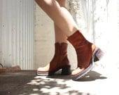 Worn-in Vintage Steve Madden Leather Platform Boots