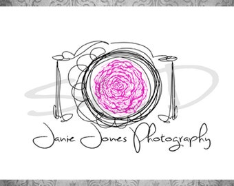 Professional Premade Logo - Watermark Small business Photography Simple Whimsical Camera