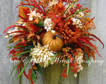 Fall Floral Bouquet, Autumn Wall Bouquet, Elegant Fall, Fall Wreath, Fall Designer, Fall Wall Bouquet, Victorian, Elegant Floral, Fall Swag