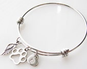 pet loss gift, personalized memorial jewelry sympathy gift keychain, pet remembrance jewelry pet memorial gift memorial bracelet loss of pet