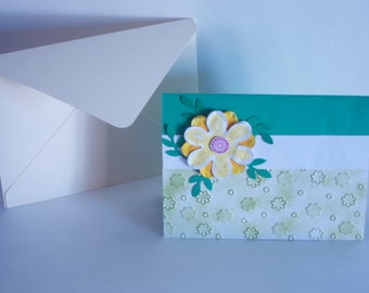 Flower Themed Handmade Decorative 3D Gift Card Holder For All Occasions (8 Greeting Options Available)