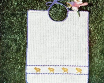 1950's Baby Feeding Size Bib Crochet Pattern Instant Download PDF