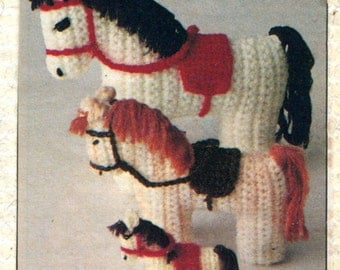 1950's Crocheted Ponies in Three Sizes PDF Pattern Instant Download