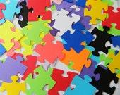 Missing Piece Puzzle Table Scatter / Puzzle Pieces / Wedding Reception Decor/ Wishing Tree Tags / Escort Cards / Adoption Shower Decor