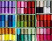 Silk Thread, 24  Spools Wholesale Indian Silk Thread, Art Silk Thread, Hand And Machine Embroidery Thread