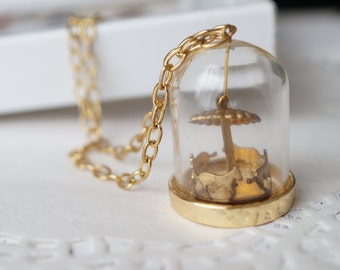 Glass Merry Go Round Necklace