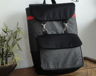 Customizable for Color Fabrics and Size / Laptop Classic Backpack with 2 Shoulders PADS - FULLY padded - laptop COMPARTMENT-interior Pockets