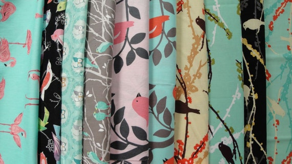 10 Birds Fabrics for Customizable Bags / Backpack / Cover- any Tablet and Laptop- iPad-MacBook; HP; Dell; Sony; Samsung; Toshiba; Lenovo etc