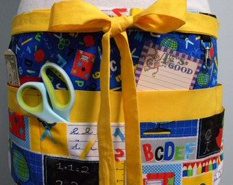 Teacher Crafter Vendor Utility Apron-Back to School
