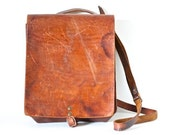 Antique Writer's Bag - Leather Satchel - Old School cross Body Messenger Bag