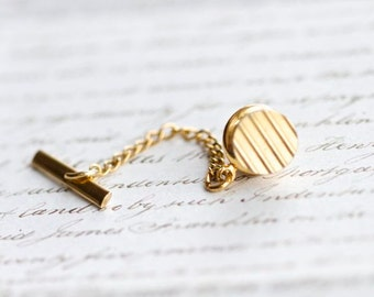 Golden Stripes - Vintage Tie pin Tack