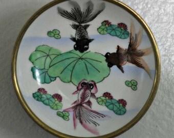 Small koi fish plate
