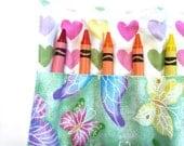 Butterfly Glitter Crayon Roll