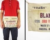Vintage 70s Flea Market Apron 1978 Ohio Treasure Hunt Cloth Work Tie Apron