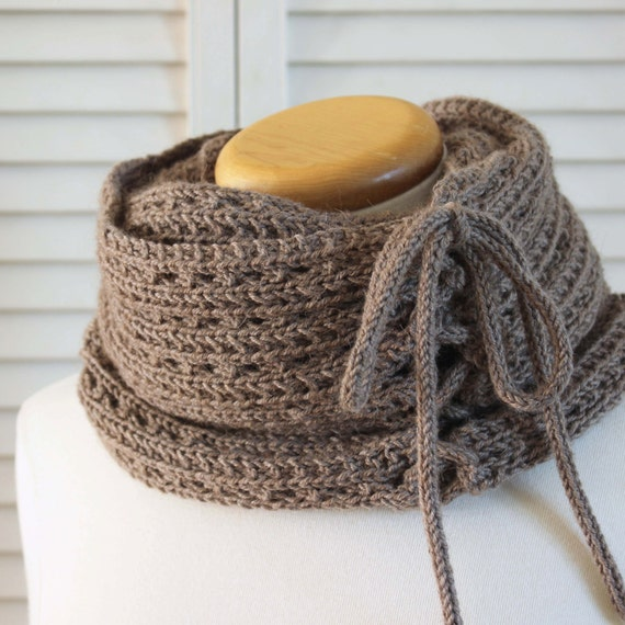 patron tricot col echarpe